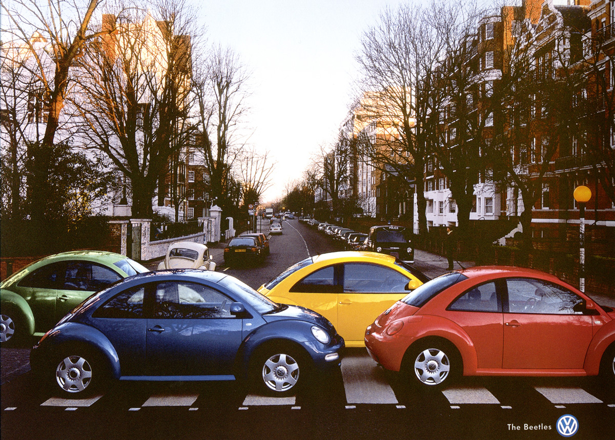 (Actually, VW Beetles, often called