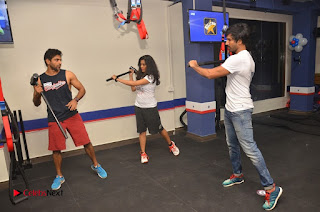 Actor Aadhi And Actress athrie Inaugurated F45 Fitness Studio Stills  0080