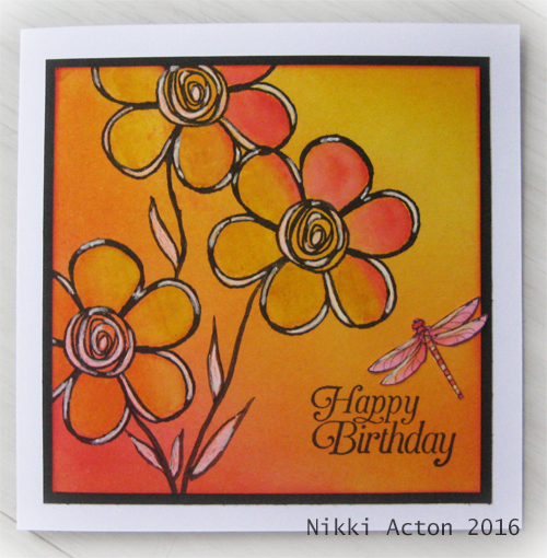 Distress Ink Ombre Emma Godfrey Stamps Nikki Acton