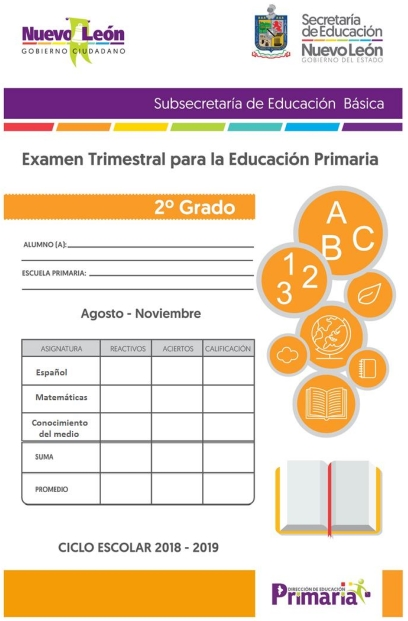 2do grado Primaria  Examen Trimestral Primer Trimestre