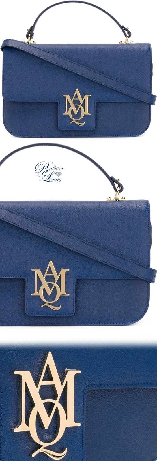 Brilliant Luxury ♦ Alexander McQueen Insignia Satchel #blue