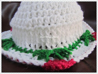 free crochet flower cap pattern