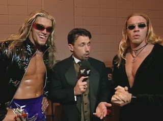 WWE / WWF - Summerslam 1999 - Michael Cole interviews Edge & Christian
