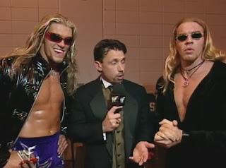 WWE / WWF - Summerslam 1999 - Michael Cole interviews Edge & Christian