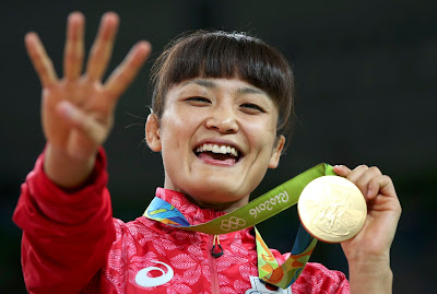 Kaori Icho Makes Olympic History with Fourth Wrestling Gold Medal
