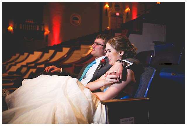 wedding reception at Indiana Theatre