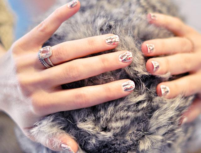 diy branch manicure, cherry blossom nail art, nails