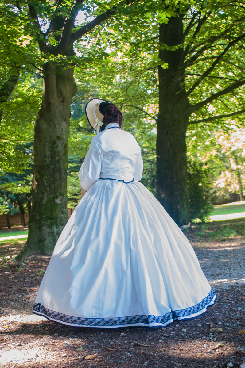 Il Fiore Nero Costumery: A White Civil War Day Dress