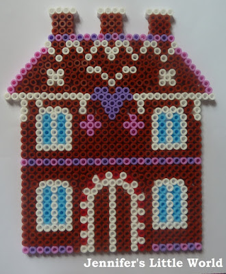 Hama bead gingerbread house