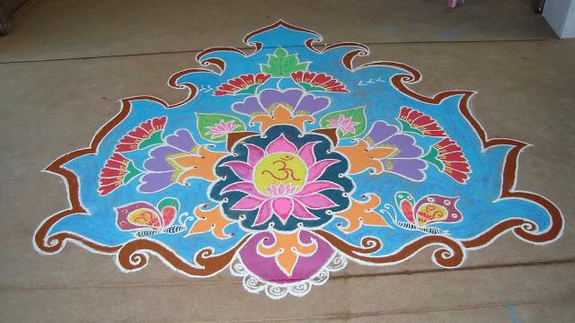 Holi Rangoli Colours