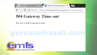 Mengatasi Error 504 Gateway Time-Out