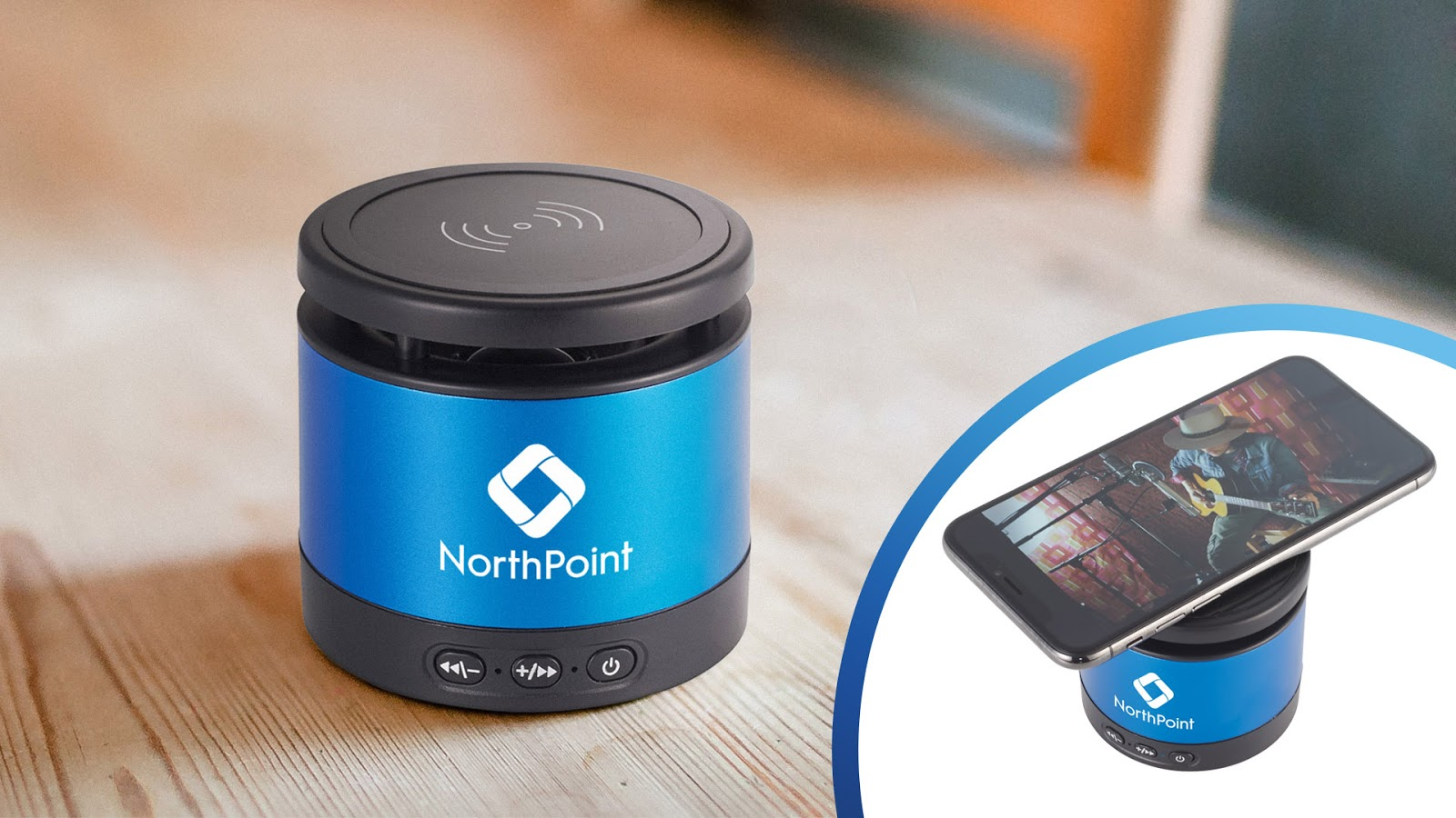Metal Bluetooth Speaker and Wireless Charging Pad