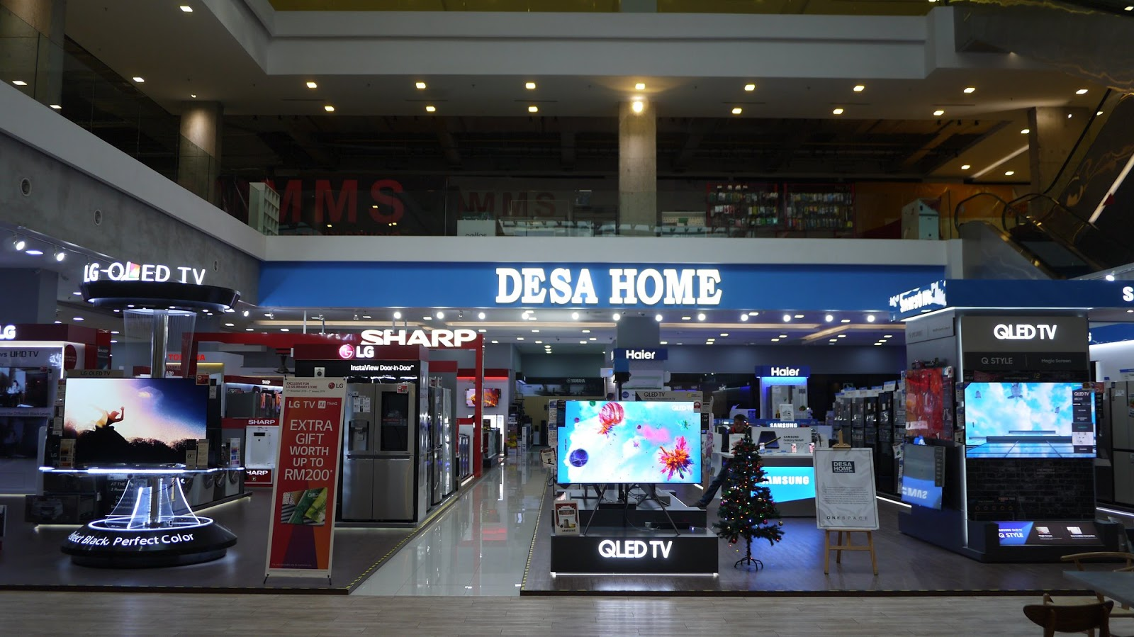 medium resolution of desa home one city s branch is very huge and well organised occupies a 1 394sq m space we can find home entertainment systems including audiovisual