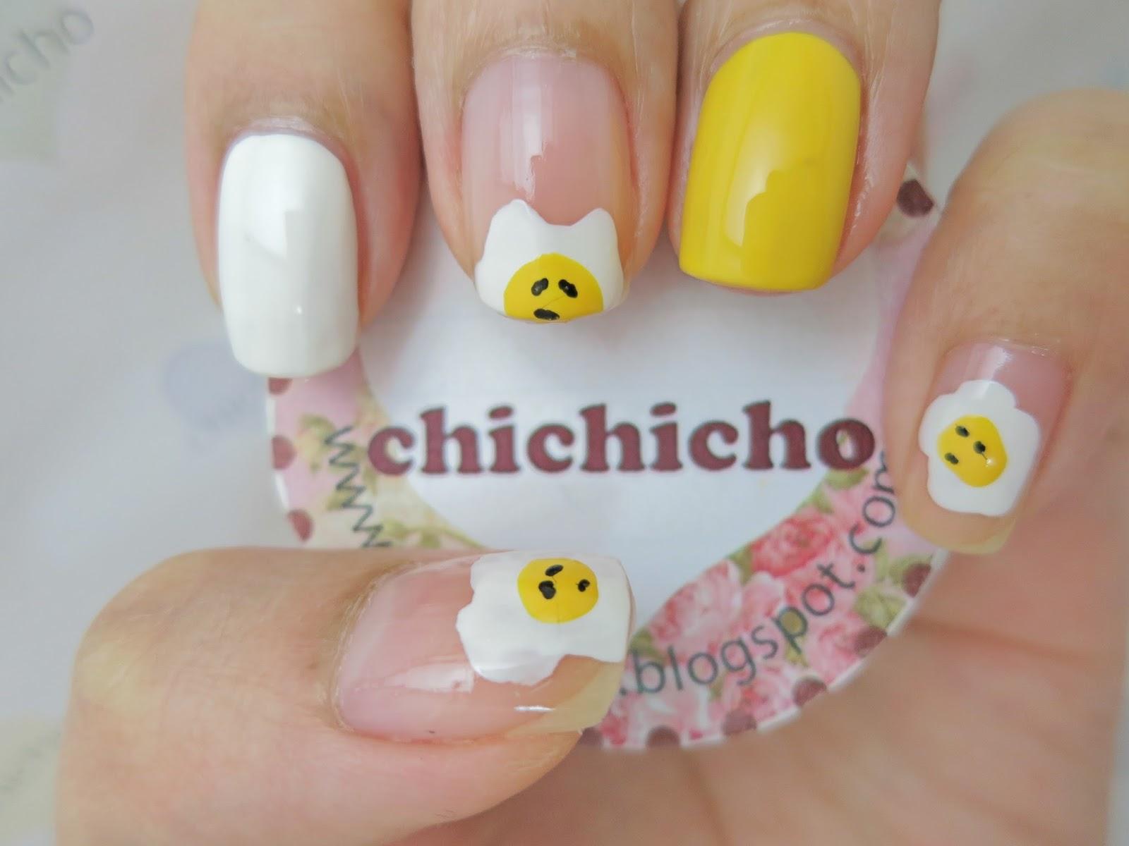 Fake Gudetama Nail Art - chichicho~