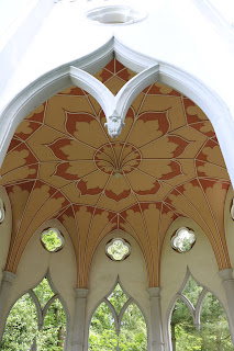Interior of Gothic temple, Painshill © A Knowles