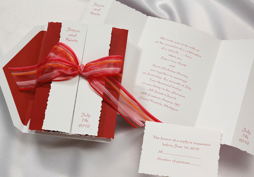 White And Red Wedding Invitations: Occasions To Blog: Red, White And Blue Weddings