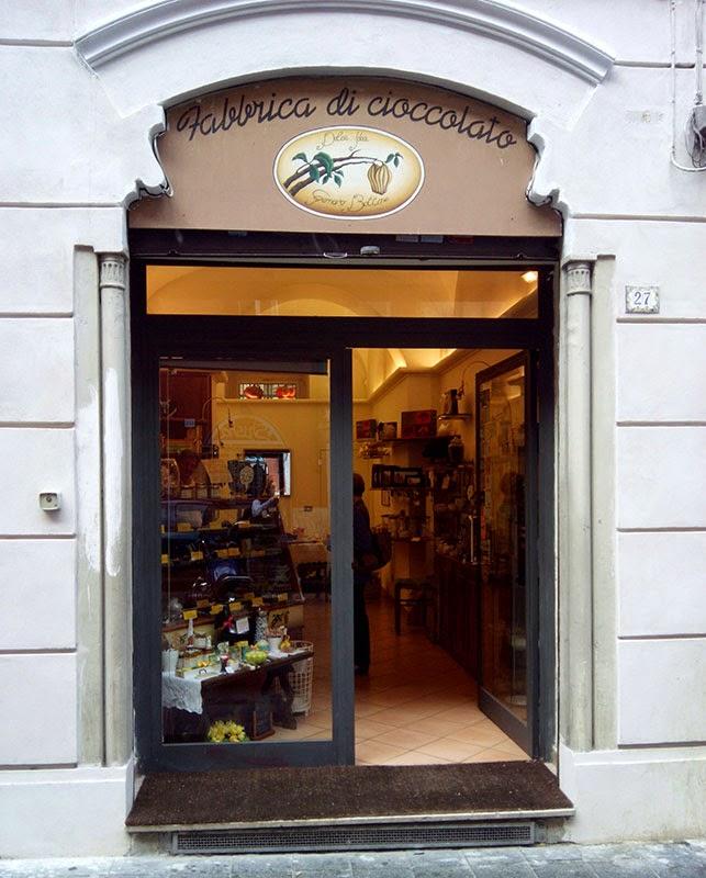 Entrada da chocolateria napoletana