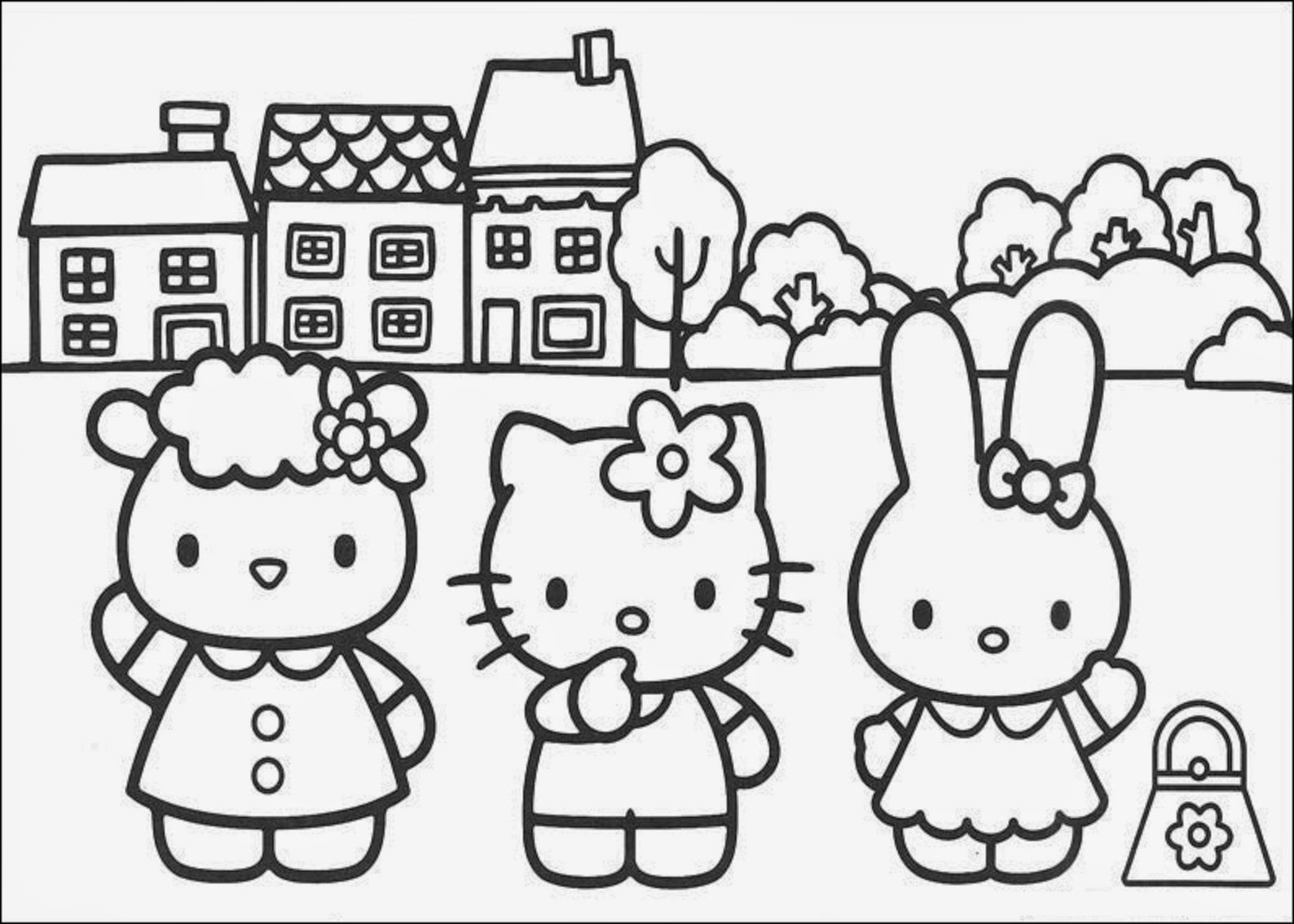 And hello kitty and friends coloring pages