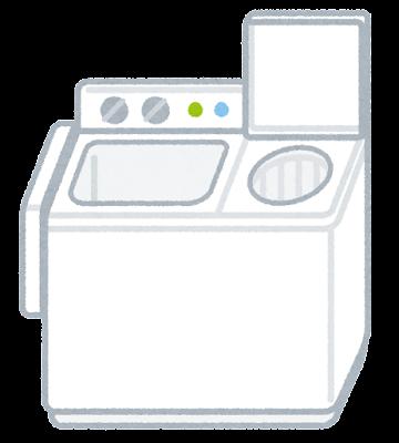 二槽式洗濯機のイラスト