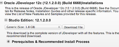 Install JDeveloper 12c on Mac OS X Mountain Lion