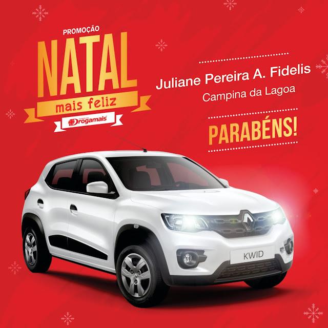 """Ganhadora da """"Promoção Natal Mais Feliz"""" é de Campina da Lagoa"""