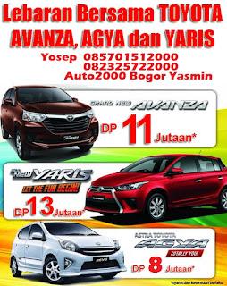 Promo Toyota YARIS, AGYA dan AVANZA untuk LEBARAN 2016 di BOGOR