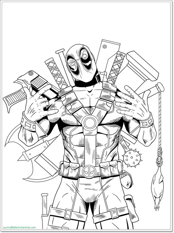 Deadpool Malvorlage Coloring and Malvorlagan
