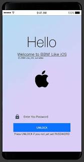BBM MOD like IOS Terbaru