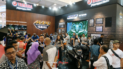 Ramainya Booth Yamaha di GIIAS 2018