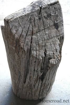 What to do with a Driftwood Buoy Stump