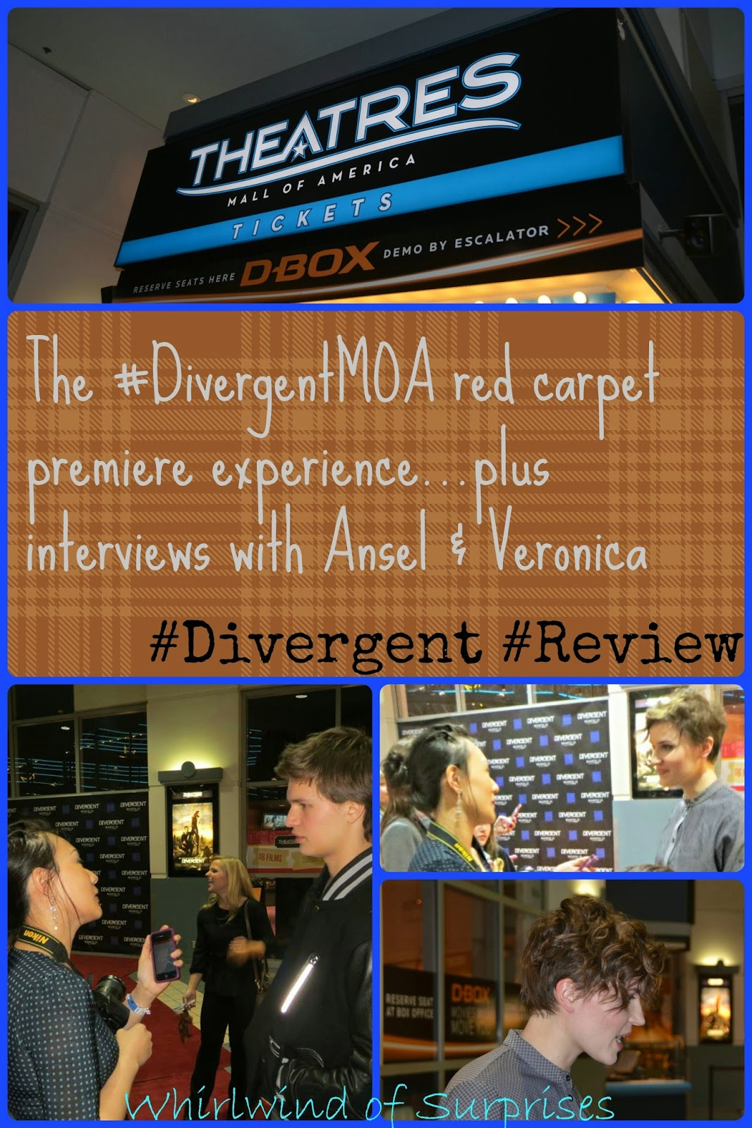 The #DivergentMOA red carpet premiere, review, and interview with Ansel Elgort and Veronica Roth, #Divergent
