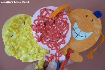 Mr Men puppets craft