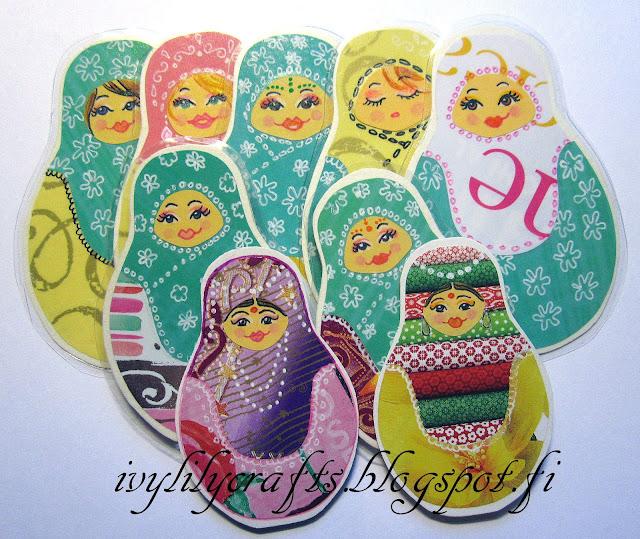 matryoshka bookmarks