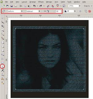 Cara Mudah dan Cepat Membuat Typography Wajah dengan CorelDRAW