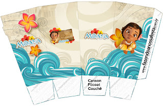 Moana Baby Free Printable Pop Corn Box.