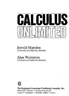 Calculus Unlimited by Jerrold Marsden & Alan Weinstein  Download or Read Online