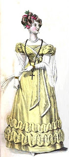 Ball dress  from La Belle Assemblée (Jan 1827)