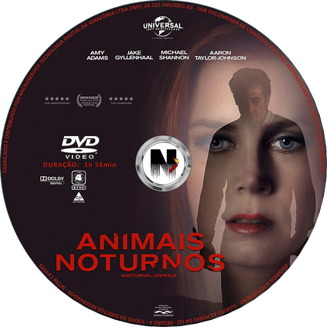 Label DVD Animais Noturnos