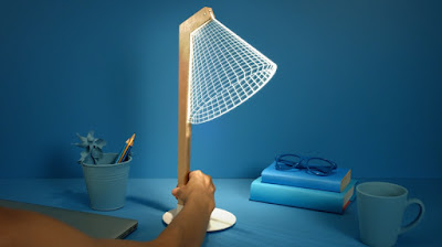 Desk lamp with LED 3D lights