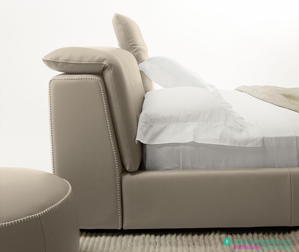 Mẫu giường ngủ bọc nỉ cao cấp GN28