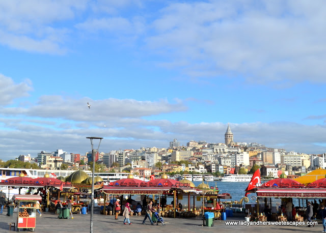 the Galata Tower in the midst of a vibrant metropolis