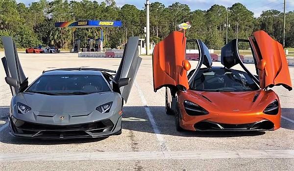 McLaren 720S vs Lamborghini Aventador SVJ 1/4 Milla