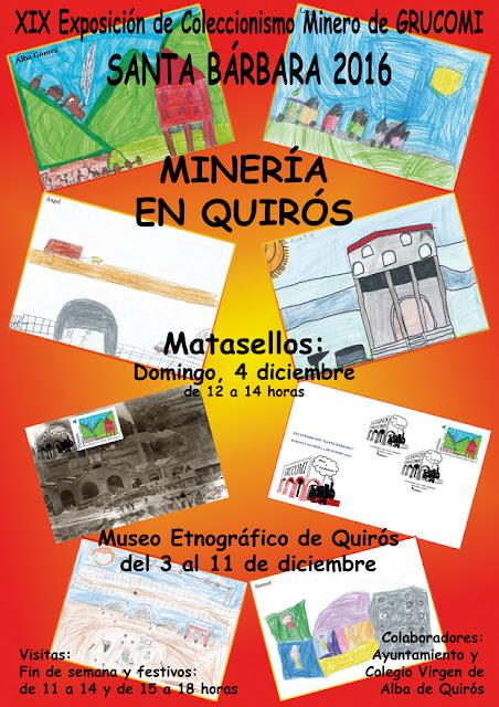 Cartel de Exposición Grucomi, Minería en Quirós
