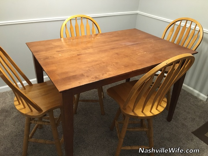 Refinishing My Dining Table And Chairs Nashville Wife