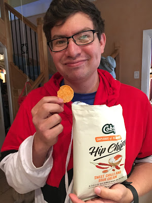 Jesse eating Hip Chips