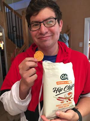 Jesse eating Hip Chips