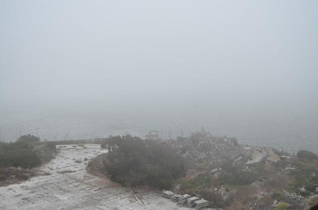 Neblina - não se consegue ver San Francisco.