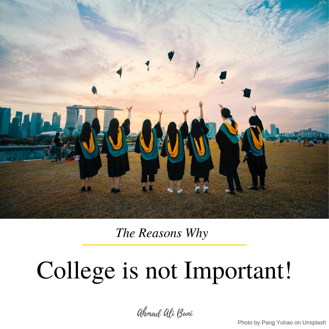 6 alasan kuliah itu tidak penting