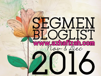 Segmen Bloglist Azhafizah.com Nov & Dec 2016