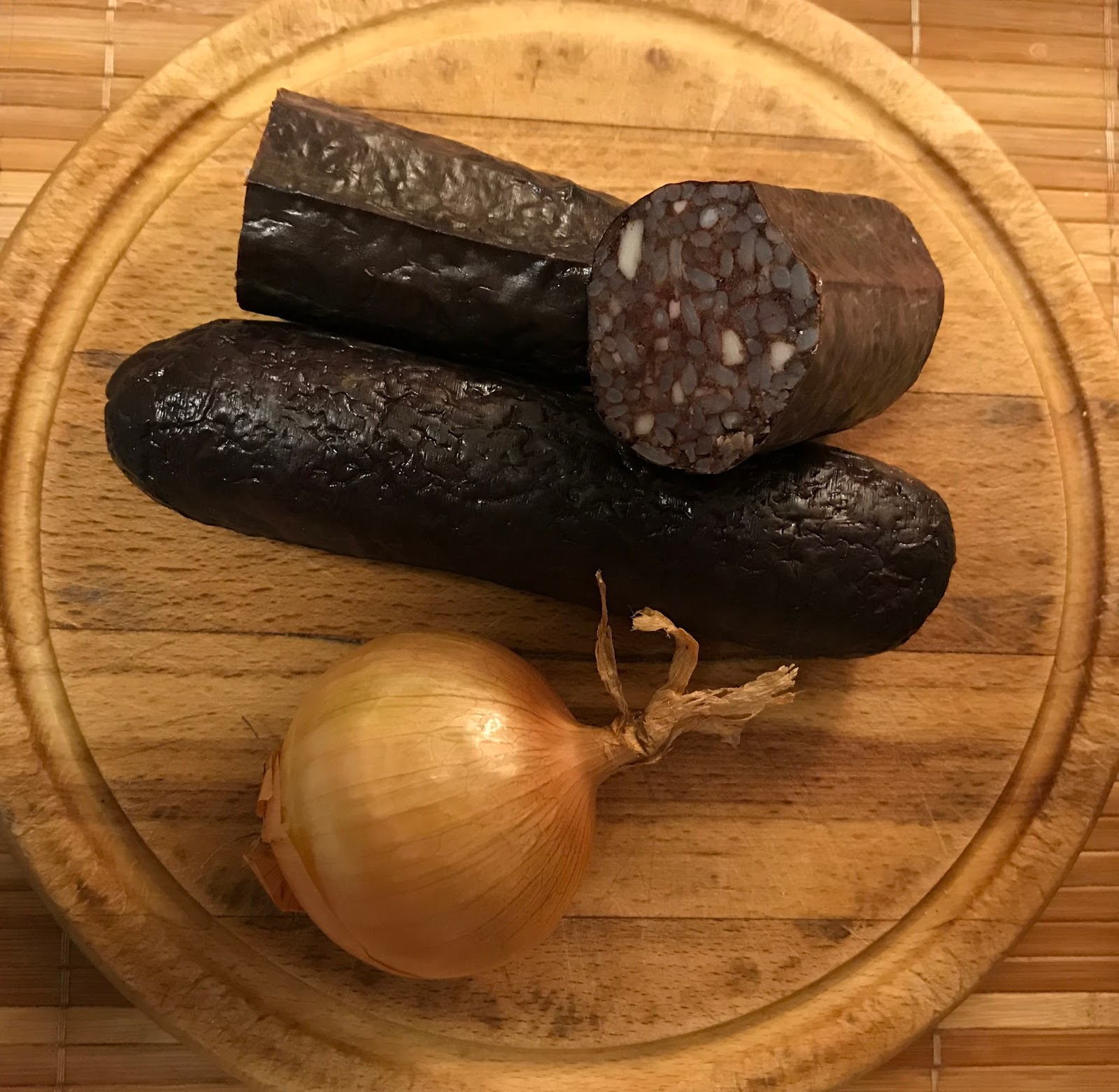 Morcilla horneada - ingredientes